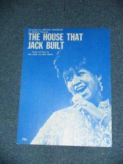 画像1: ARETHA FRANKLIN - THE HOUSE THAT JACK BUILT : SHEET MUSIC  / US AMERICA ORIGINAL Used SHEET Musci