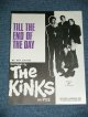 The KINKS - TILL THE END OF THE DAY:SHEET MUSIC  / 1965? UK ENGLAND ORIGINAL? Used SHEET MUSIC