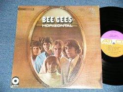 """画像1: BEE GEES - HORIZONTAL (Matrix #   HAND WRITING  STYLE   A) ST-C-671199-AA △11471  LW  B) ST-C-671200-AA △11471-x   LWB )  ( Ex+/Ex+++ )  /  1968 US AMERICA ORIGINAL """"PURPLE & BROWN Label"""" 1969 Version? """"1841 BROADWAY Credit LabeBottom""""  Used  LP"""