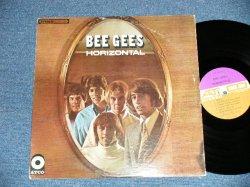 """画像1: BEE GEES - HORIZONTAL ( Matrix #   HAND WRITING  STYLE   A) ST-C-671199-B  B) ST-C-671200-B )  ( Ex++/Ex+++ ; EDSP )  /  1968 US AMERICA ORIGINAL """"PURPLE & BROWN Label""""  """"NO ADDRESS Credit LabeBottom""""  Used  LP"""