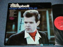 """画像1: DICK CAMPBELL - SINGS WHERE IT'S AT  : With MIKE BLOOMFIED, PAUL BUTTERFIELD, ...(Ex,  Ex++/Ex+++  BB, WOFC, )  / 1965 US AMERICA  ORIGINAL""""RED LABEL# MONO Used  LP"""