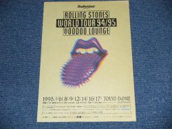 画像1: ROLLING STONES -  WORLD TOUR 94/95 VOODOO LOUNGE Flyer  /  1994 JAPAN ORIGINAL FLYER