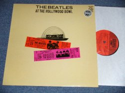 "画像1: THE BEATLES - AT THE HOLLYWOOD BAWL ( RARE ""RED&PRUPLE TICKET on FRONT COVER) (Matrix # A) YEX 969 8-1-1/B) YEX 970 9-1-5 ) (MINT-/MINT)  / 1988 UK ENGLAND REISSUE Used LP"