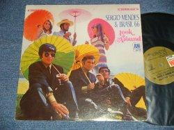 """画像1: SERGIO MENDES & BRASIL '66 -  LOOK AROUND (MATRIX # A) SP 4173-15 MR ▵11518   B) SP 4174-16 MR ▵11518-x  7) (Ex+++/Ex)  / 1968 US AMERICA Original Stereo """"BROWN LABEL"""" Used LP"""