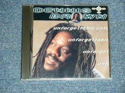 画像1: DENNIS BROWN - UNFORGETTABLE   (MINT-/MINT) / 1993 US AMERICA ORIGINAL  Used CD