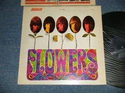 """画像1: ROLLING STONES -  FLOWERS (Matrix# A) ZAL 7752-1M BellSound MR   B) ZAL 7753-1M BellSound MR)  ( Ex++/Ex++ A-1:Ex-) / 1967 US AMERICA  ORIGINAL """"Shinning DARK BLUE  with Boxed 'LONDON' Label"""" """"ADDRESS CREDIT at Bottom Label""""  STEREO   Used LP"""