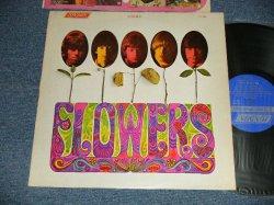 """画像1: ROLLING STONES -  FLOWERS (Matrix # A) LL-3509  ARL-7752-1P-W     B) LL-3509  ARL-7753-1P-W) ( Ex++/Ex++ Looks:Ex+++ EDSP)  / 1969 Version? US AMERICA ORIGINAL """"BLUE  with Boxed 'LONDON' Label"""" """"NONE ADDRESS CREDIT at Bottom Label""""  STEREO   Used LP"""