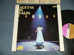 "画像1: ARETHA FRANKLIN - ARETHA IN PARIS  (MATRIX #  (MACHINE CUT / TYPING )   A)ST A 681373-1S B2  B)ST A 681374-1S  A1  )  (Ex+/Ex+++)  / 1968 US AMERICA ORIGINAL 1st Press ""PURPLE & BROWN Label"" STEREO Used LP"