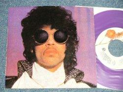 """画像1: PRINCE - A) WHEN DOVES CRY   B) 17 DAYS (Ex++/Ex+++)  / 1984 US AMERICA ORIGINAL """"PURPLE WAX Vinyl"""" Used 7"""" 45 rpm Single with PICTURE SLEEVE"""