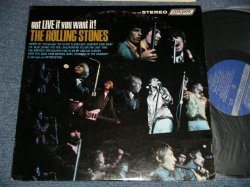 """画像1: ROLLING STONES - GOT LIVE IF YOU WANT IT! (Matrix  #   ) (Ex+/MINT-)  / 1971 Version? US AMERICA  2nd Press """"UN-GLOSSY BLUE Label""""  RARAE """"NON ADDRESS CREDIT at BOTTOM Label"""" stereo Used LP"""
