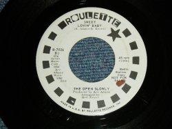 """画像1: The OPEN SLOWLY - A) SWEET LOVIN' BABY  B) SWITHOUT YOUR TENDER LOVE  (Ex++/Ex++) / 1968 US AMERICA ORIGINAL """"WHITE LABEL PROMO"""" Used 7""""Single"""