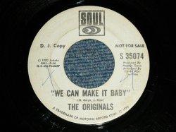 """画像1: THE ORIGINALS -  WE CAN MAKE IT BABY   : Same Flip  (Ex Looks:VG+++/Ex Looks:VG+++ WOL)  / 1970 US AMERICA ORIGINAL """"PROMO ONLY Same Flip"""" Used 7""""45"""