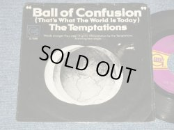 "画像1: The TEMPTATIONS - A) BALL OF CONFUSION (PSYCHE FUNK)  B) IT'S SUMMER (BALLAD) (Ex/Ex++ Looks:Ex)  / 1970 US AMERICA ORIGINAL Used 7""45  with PICTURE Sleeve"