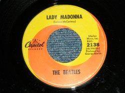 """画像1: The BEATLES -  A) LADY MADONNA  B) THE INNER LIGHT ( Ex++/Ex++) / 1968 US AMERICA ORIGINAL Used 7"""" Single"""