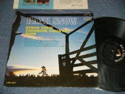 """画像1: HANK SNOW - SINGS YOUR FAVORITE COUNTRY HITS (Ex++/Ex++) / 1965 US AMERICA ORIGINAL1st Press """"BLACK With WHITE RCA VICTOR MONO DYNAGROOVE Label"""" MONO Used LP"""