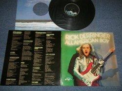 """画像1: RICK DERRINGER - ALL AMERICAN BOY :With Custom Inner (Ex+++/MINT-) /1973 US AMERICA ORIGINAL 1st Press """"GLOSSY SHINING Cover"""" Used LP"""