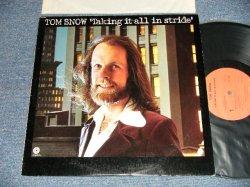 画像1: TOM SNOW - TALKING IT ALL IN STRIDE (Ex+++/MINT-) /1975 US AMERICA ORIGINAL Used LP