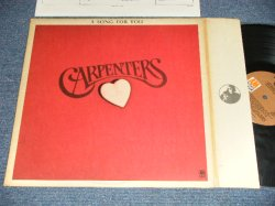 "画像1: CARPENTERS - A SONG FOR YOU ( Matrix No. A) A&M SP-3531-P1  B) A&M SP-3532-P1) (Ex+/Ex+++ Looks:Ex, Ex+++) With ORIGINAL INNER SLEEVE  /1972 US AMERICA ""Small TITLE Logo"" ""BROWN LABEL"" Used LP"