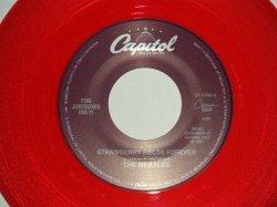 """画像1: The BEATLES - A) STRAWBERRY FIELDS FOREVER  B) PENNY LANE  (for JUKEBOX) (NEW)/ 1994 US AMERICA REISSUE """"RED WAX/Vinyl"""" """"BRAND NEW"""" 7"""" Single"""