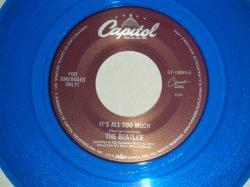 """画像1: The BEATLES - A) IT'S ALL TOO MUCH  B) ONLY A NORTHERN SONG (for JUKEBOX) (NEW)/ 1996 US AMERICA REISSUE """"BLUE WAX/Vinyl"""" """"BRAND NEW"""" 7"""" Single"""