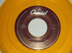 """画像1: The BEATLES - A) MAGICAL MYSTERY TOUR B) THE FOOL ON THE HILL (for JUKEBOX) (NEW)/ 1996 US AMERICA REISSUE """"GOLD WAX/Vinyl"""" """"BRAND NEW"""" 7"""" Single"""