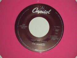 """画像1: The BEATLES - A) TWIST & SHOUT B) THERE'S A PLACE (for JUKEBOX) (NEW)/ 1994 US AMERICA REISSUE """"PINK WAX/Vinyl"""" """"BRAND NEW"""" 7"""" Single"""