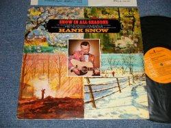"""画像1: HANK SNOW - SNOW IN ALL SEASONS (Ex++, Ex+/Ex+++ SWOBC, EDSP, STMPOBC) / 1969 US AMERICA ORIGINAL """"PROMO""""  """"ORANGE Label"""" Used LP"""