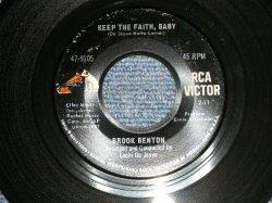 """画像1: BROOK BENTON - A) KEEP THE FAITH, BABY  B) GOING TO SOULSVILLE (Ex+++/Ex+++)  / 1967 US AMERICA ORIGINAL Used 7"""" Single"""