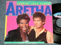 "画像1: ARETHA FRANKLIN with KEITH RICHARDS -JUMPIN' JACK FLASH  A) 4:25  B) 4:56 (Ex++/MINT, MINT) / 1986 US AMERICA ORIGINAL ""PROMO"" Used 7""45 Single with PICTURE SLEEVE"