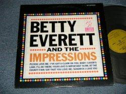 """画像1: BETTY EVERETT And The IMPRESSIONS - BETTY EVERETT And The IMPRESSIONS (Ex++/Ex+++ EDSP) / 1966 US AMERICA ORIGINAL """"STEREO"""" Used LP"""