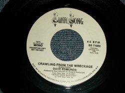 """画像1: DAVE EDMUNDS - CRAWLING FROM THE WRECKGE A)MONO  B)STEREO (MINT-/MINT-) / 1981 US AMERICA ORIGINAL """"PROMO ONLY SAME FLIP MONO-STEREO"""" Used 7"""" 45rpm Single79"""